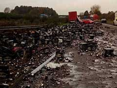 Smashed: 30,000 Beer Bottles Spark German Highway Chaos