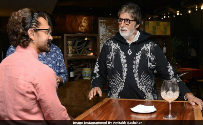To Amitabh Bachchan A Blockbuster Birthday Wish From'Biggest Fan Aamir Khan