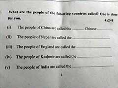 'What Are People Of This Country Called?' Bihar Exam Asked About Kashmir
