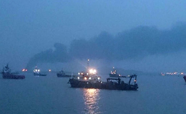 Fire At Oil Depot On Butcher Island Off Mumbai