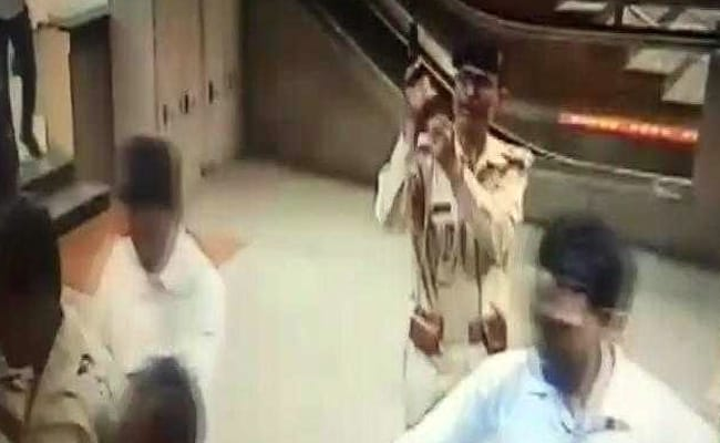 On Camera, Gun Pulled Out, Shot Into The Air At Delhi Metro Station