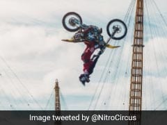 Watch: Daredevil Biker Backflips Over River Thames