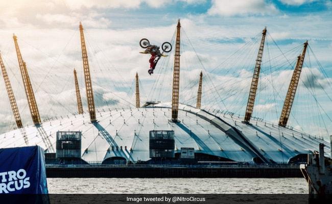 Watch: Daredevil Biker Backflips Over River Thames