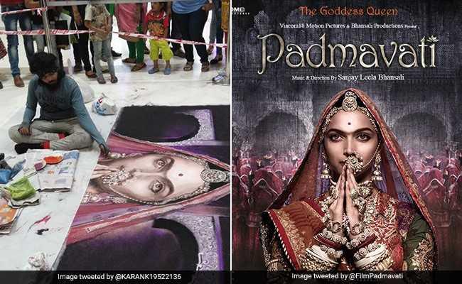 48 घंटे में बनी 'पद्मावती' की रंगोली, भीड़ ने 'जय श्री राम' के नारों के साथ पलभर में कर दी बर्बाद...!
