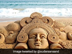 Sudarsan Pattnaik's Intricate Sand Sculpture For Dhanteras Is Stunning