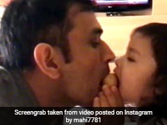 MS Dhoni, Daughter Ziva And <i>Besan Ka Laddoo</i> Make This A Very Yummy Video