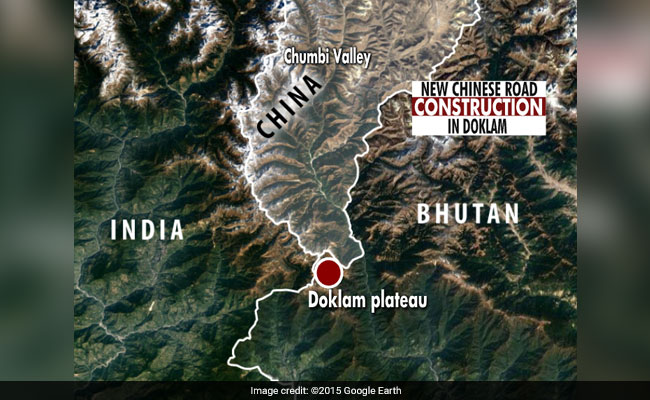 doklam road construction google earth