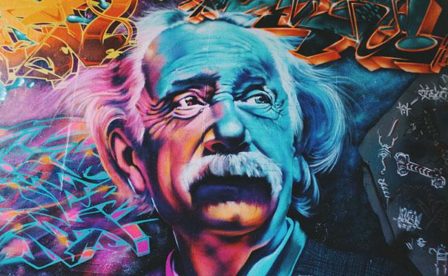 einstein mural unsplash