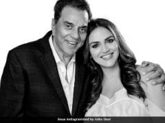 Pregnant Esha Deol Posts Pic With Her 'One Love, One Heart' Dharmendra