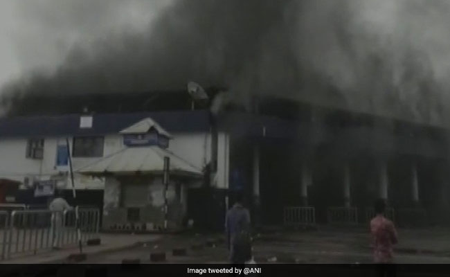 Massive Fire Breaks Out At Goa Bus Stand, No Casualties
