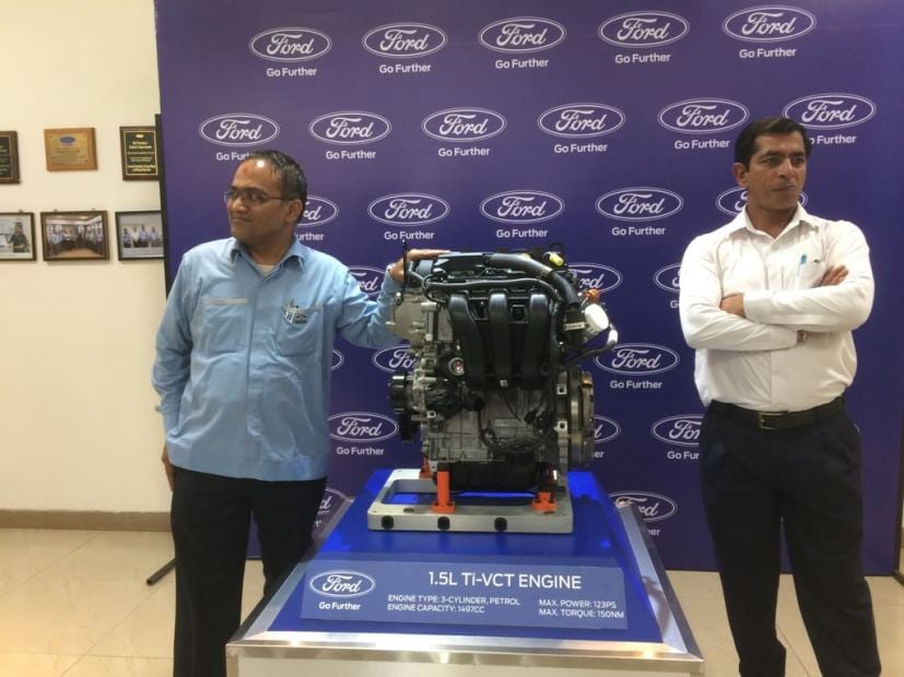 Ford Ecosport 2017 petrol engine