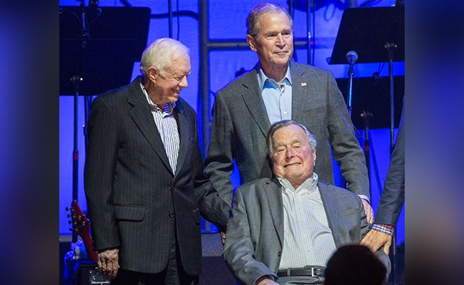 Former United States Presidents Take Stage At Hurricane Benefit Concert