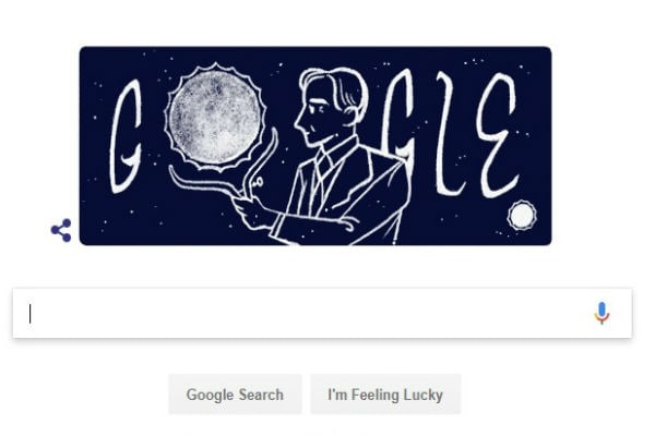 Google Stars Logo To Honor S. Chandrasekhar