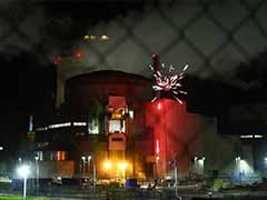 Greenpeace Activists Set Off Fireworks At French Nuclear Plant