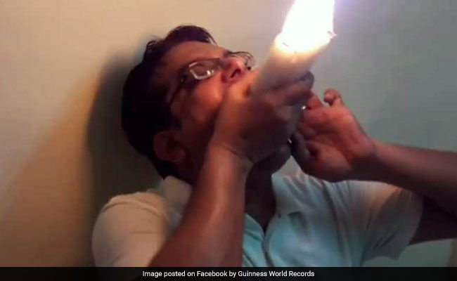 Mumbai Man Sets World Record For Holding Most Lit Candles In Mouth