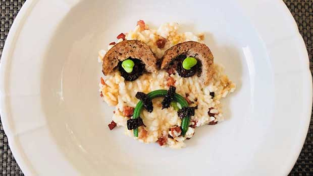 Halloween Chorizo and goat cheese Risotto