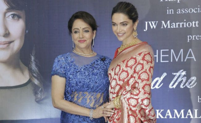 Deepika Padukone Launches Hema Malini's Biography Beyond The Dream Girl. Pics Here