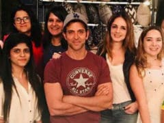 Hrithik Roshan Drops By Ex Wife Sussanne Khan's Store. Pic Here