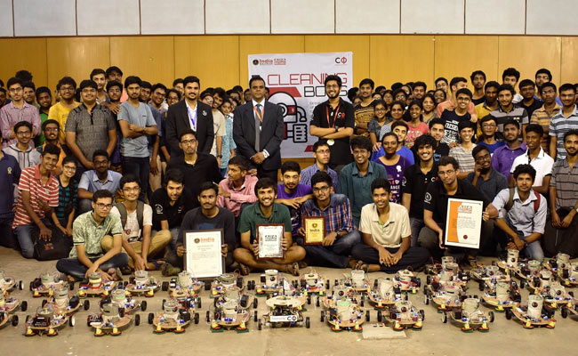 Robots Made By IIT Students Sweep Their Way To Record Books