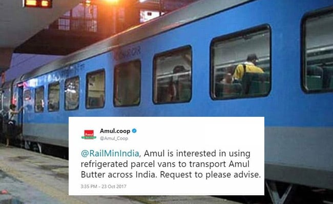 Amul Tweets Business Plan To Rail Ministry. See Their 'Utterly, Butterly' Reply
