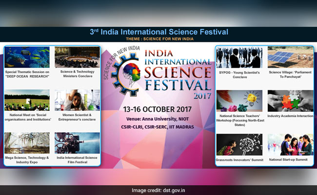 3rd India International Science Fest To Open In Chennai On October 13