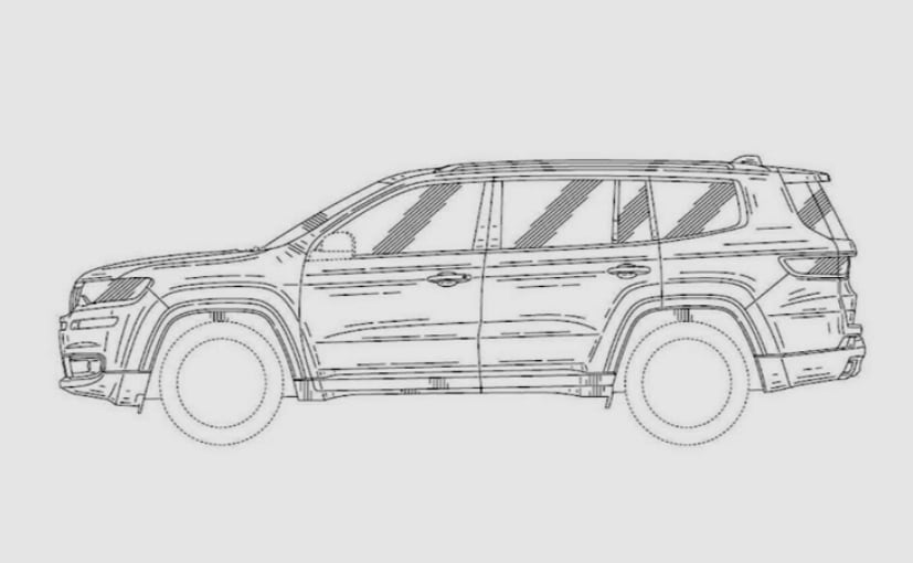 jeep working on an suv with three rows  patent drawings