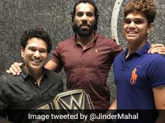 When Jinder Mahal, 'The Modern Day Maharaja', Met Sachin Tendulkar