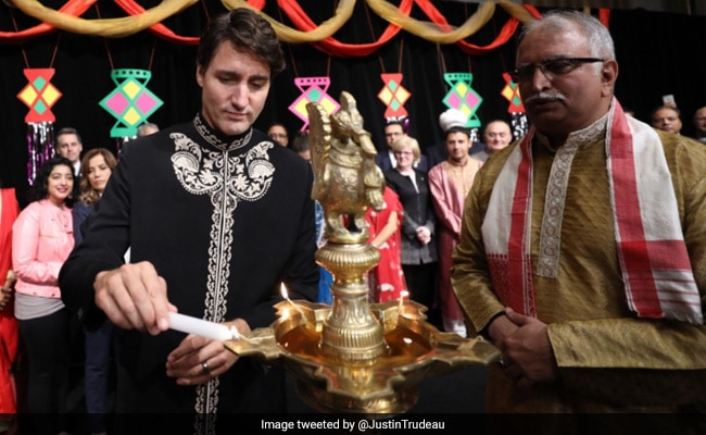 Diwali Greetings From Canada's Justin Trudeau, Wearing A Sherwani