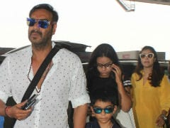 Kajol, Ajay Devgn And Kids Off For A Family Vacation. See Pics