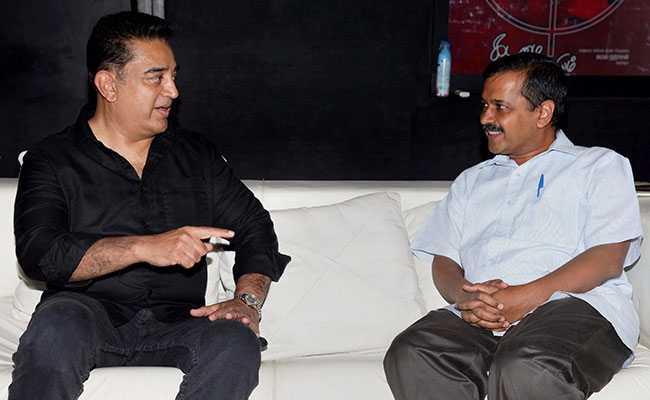 kamal haasan and kejriwal