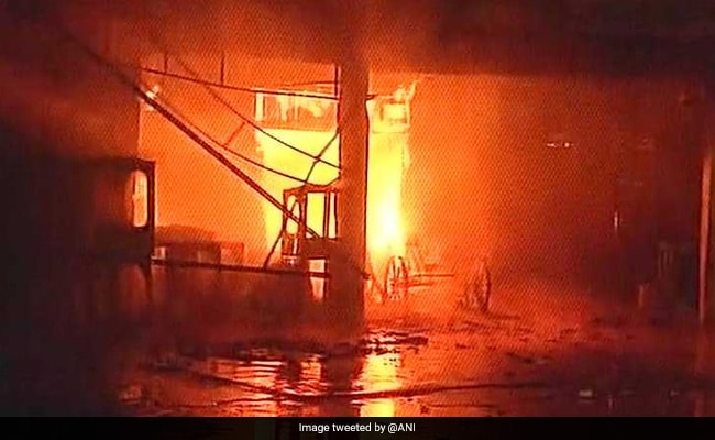 50 Shops Down After Fire Broke Out In New Delhi's Kamla Market