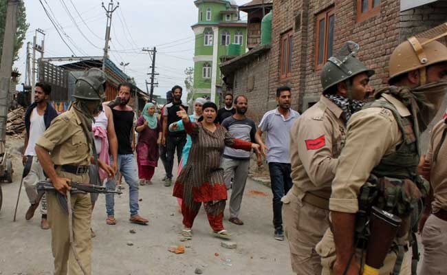 kashmir protest after burhan wani death ndtv