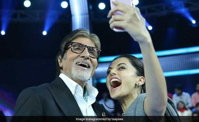 KBC के सेट पर मिले अमिताभ बच्चन को सेल्फी लेने के क्रेज से बच नहीं पायीं तापसी पन्नू