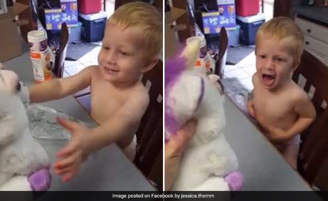 Mum Pranks Son With Cute-Cum-Scary Toy. His Reaction Has 39 Million Views