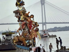 Only A Handful Of Bengal Puja Organisers Immerse Idols Today