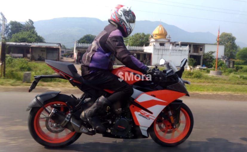 A production-ready KTM RC 250 has been spotted while being tested on Indian roads