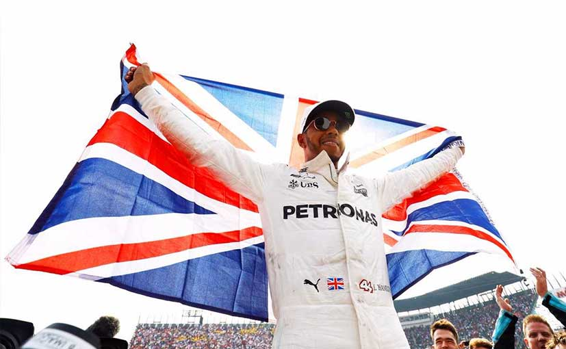 Lewis Hamilton was previously crowned as the world champion in 2008, 2014 and 2015