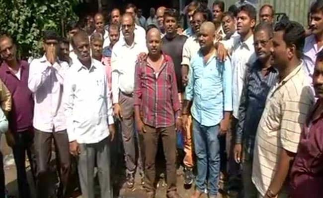 Employees Shave Heads In Protest As Maharashtra Transport Workers' Strike Continues