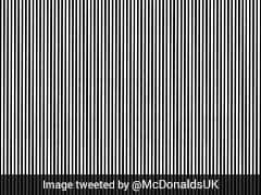 Today's Optical Illusion Served By McDonald's And We Are Loving It