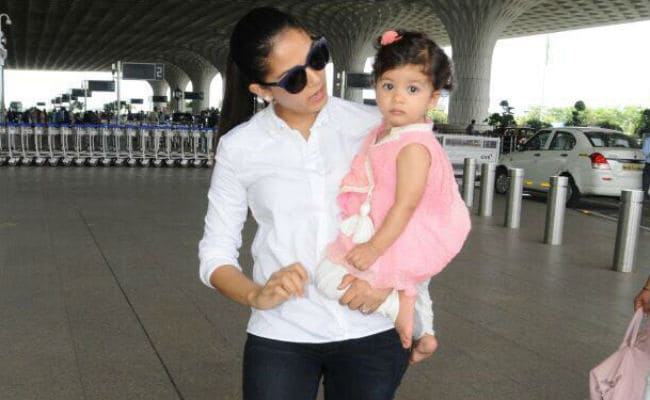Cuteness Alert: Misha With Her Favourite Travel Buddy, Mom Mira Rajput
