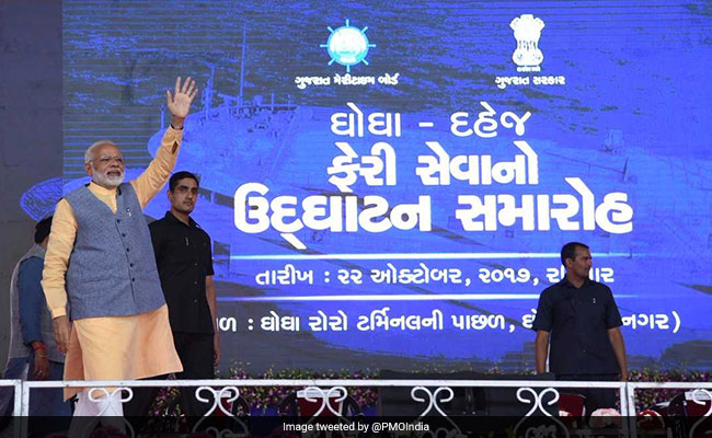 PM Narendra Modi In Gujarat Highlights: After Ro-Ro Ferry Launch, Prime Minister Seeks 'Blue Economy' Boost