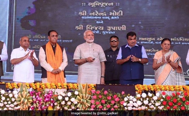 PM Modi Lays Foundation Stone For Bridge In Gujarat's Dwarka