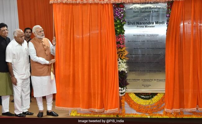 PM Modi Unveils Bidar To Kalaburgi Railway Line