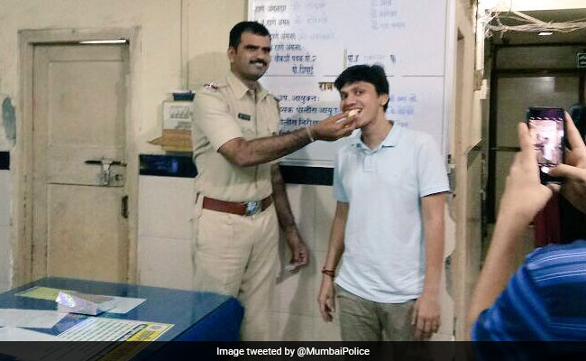He Went To File An FIR. Mumbai Police Surprised Him With A Cake