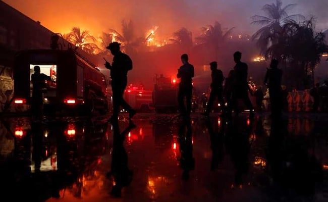 Fire Destroys Landmark Hotel In Myanmar's Largest City, Kills One
