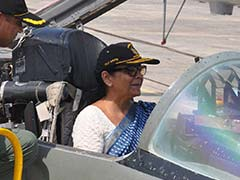 Defence Minister Nirmala Sitharaman Visits Jamnagar Air Force Station, Sits In MiG-29 Fighter