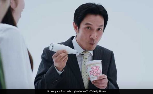 This Giant Fork Can Mask Noodle-Sucking Noise. So, Slurp All You Want