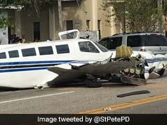 Video: Small Plane Crashes On Busy Road, Strikes Two Cars
