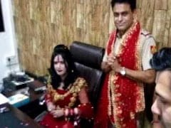 Police Complaint Against 'Godwoman' Radhe Maa For Sitting On SHO's Chair