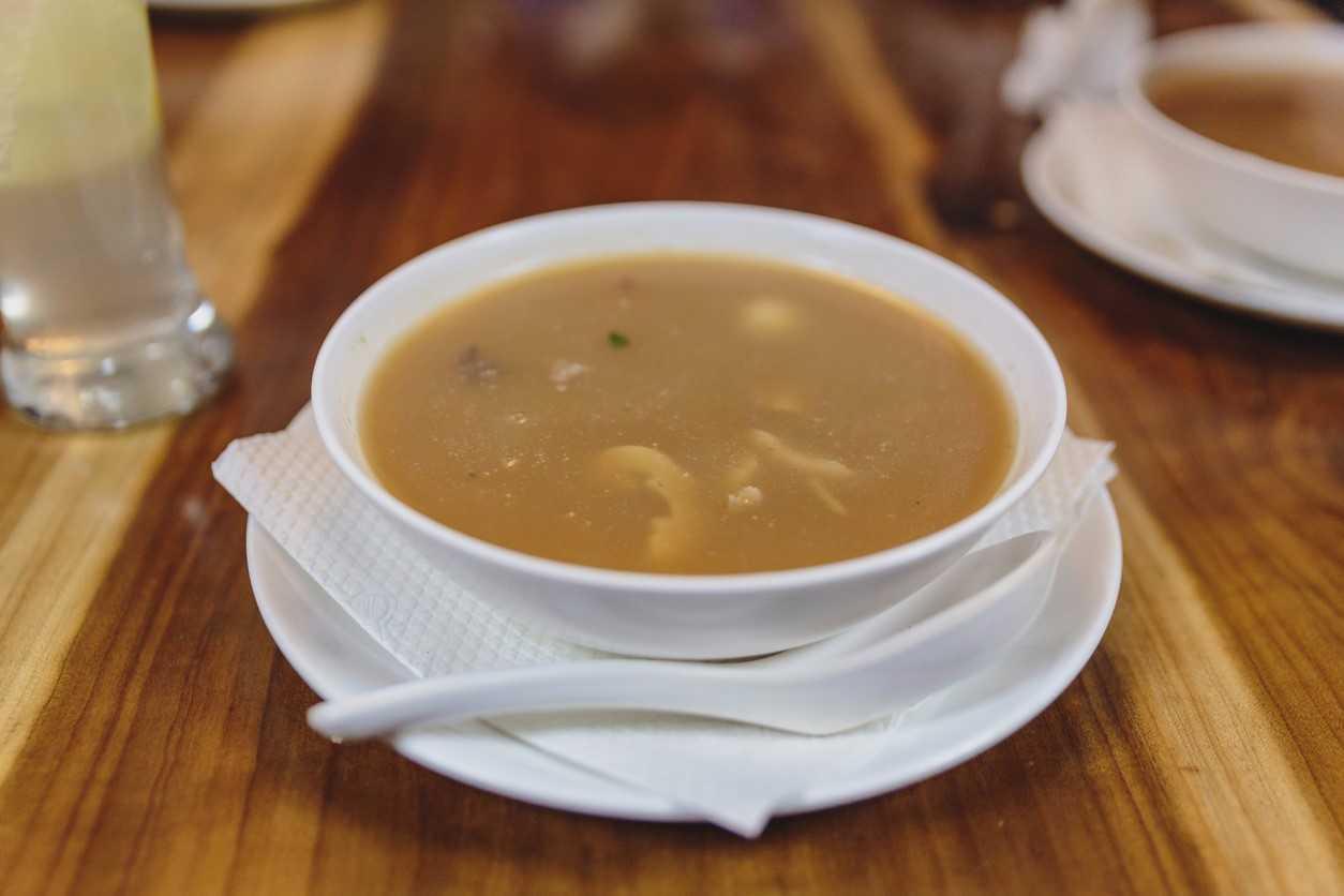 मूली का सूप विद टोफू मिसो क्रीम
